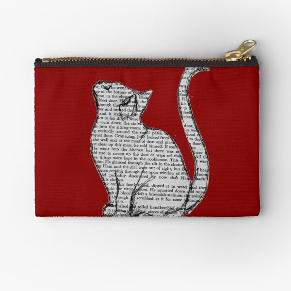 books and cats and books and cats Zipper Pouch