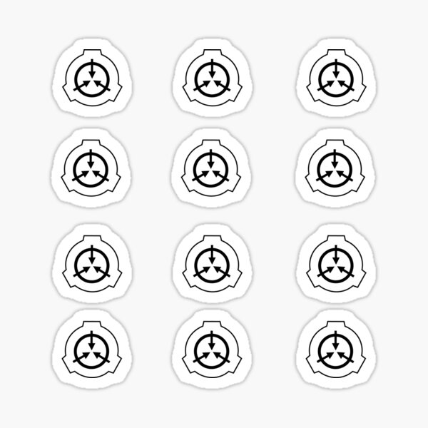 SCP Logo- Pack of 12 stickers Sticker