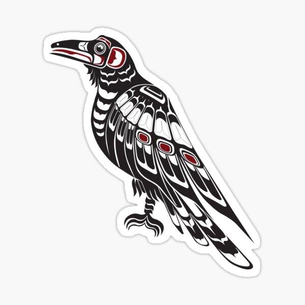 Pacific Northwest Raven native american salish formline art Crow Sticker