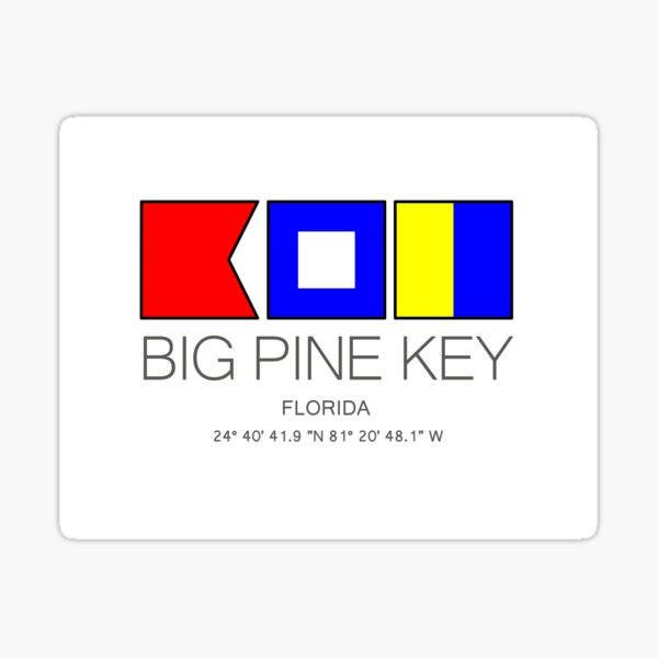 Big Pine Key, FLORIDA Nautical Flag Art  Sticker