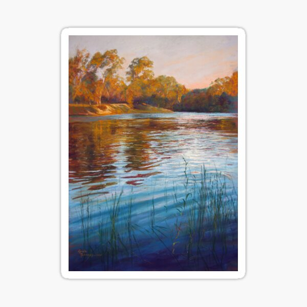 'Evening Reflections' - Goulburn River Sticker