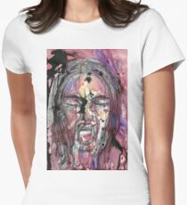 A Watercolor Scream Women's Fitted T-Shirt