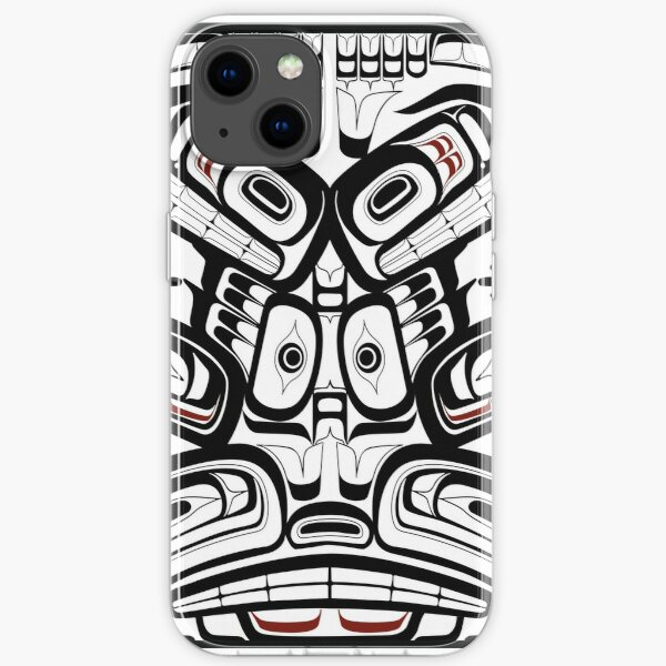 Pacific Northwest Orca Raven Bear totem Formline Hiada Salish style first nations native american iPhone Soft Case