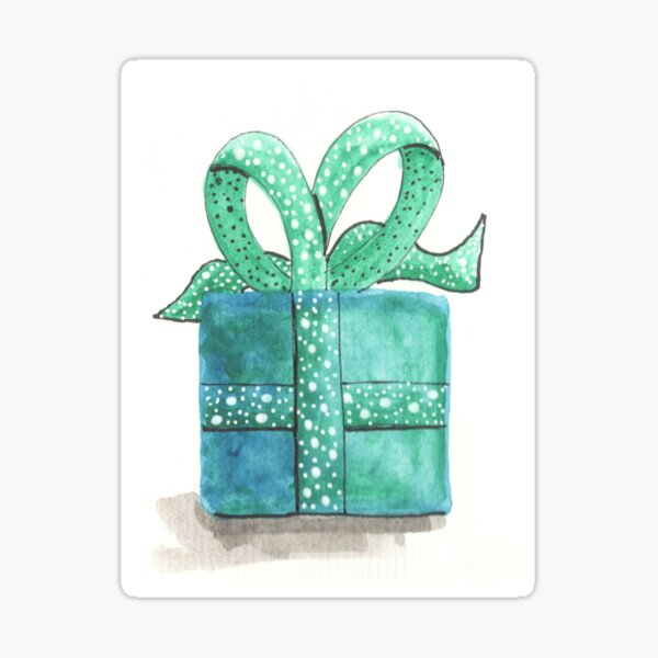 A Gift (turquoise) Sticker