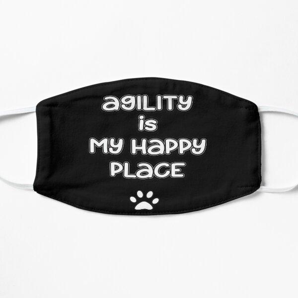 Dog Agility - Agility is my happy place Flat Mask