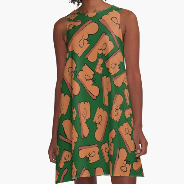 The Many Faces of Boot (Green) A-Line Dress
