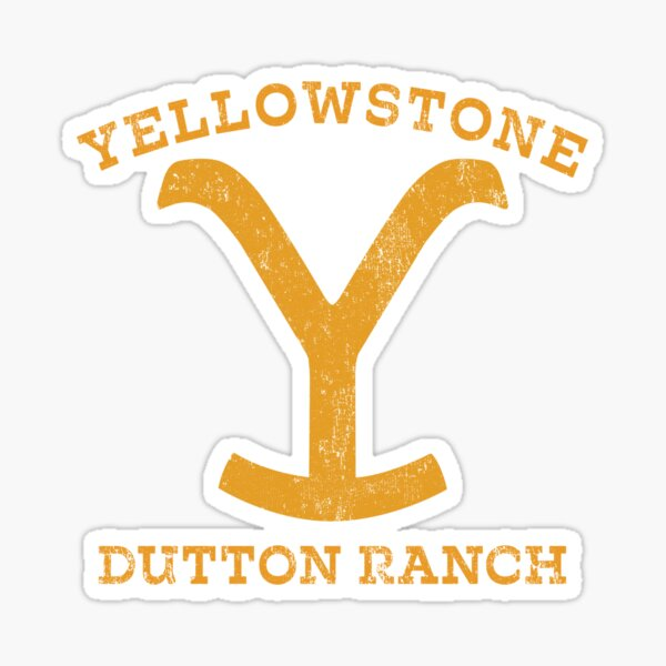 Yellowstone Dutton Ranch Montana Sticker