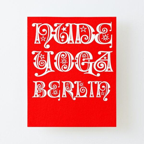 Nude Yoga Berlin X-Mas Canvas Mounted Print