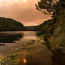 Sunset on Pieman River, Corinna, Tasmania by SusanAdey