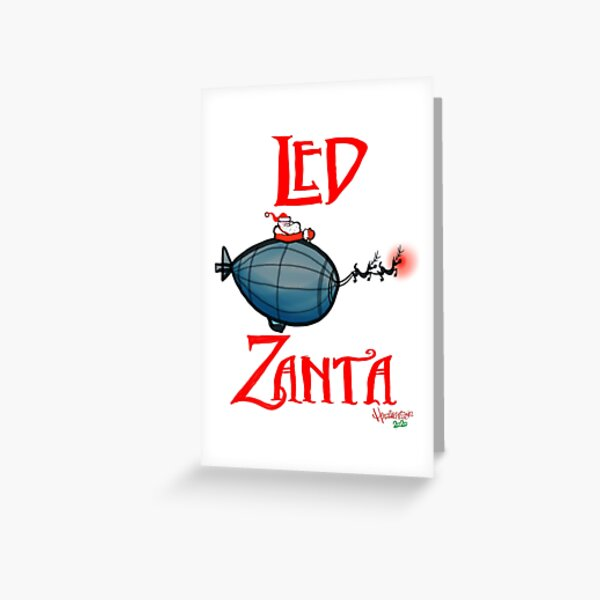 led zeppelin greeting cards  redbubble