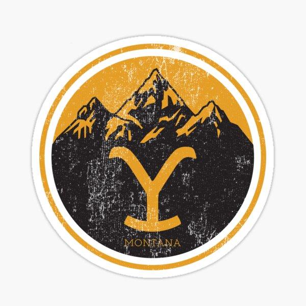 Yellowstone Dutton Ranch Montana Retro Artistic Sticker