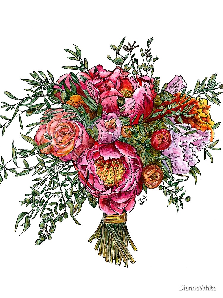 Peonies and Roses by DianneWhite