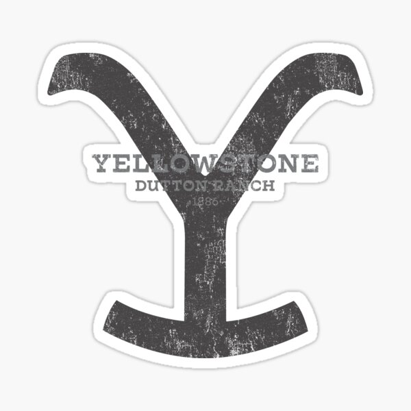 Yellowstone Dutton Ranch Montana Color Black Sticker