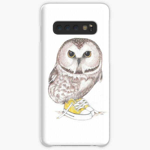 Saw-Whet owl in low tops Samsung Galaxy Snap Case