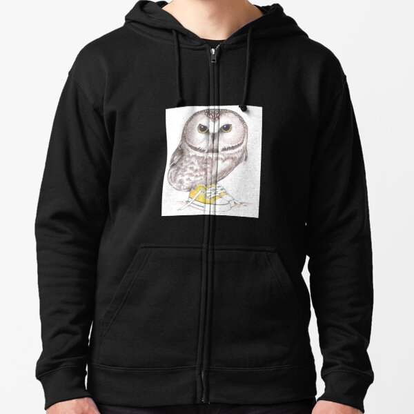 Saw-Whet owl in low tops Zipped Hoodie