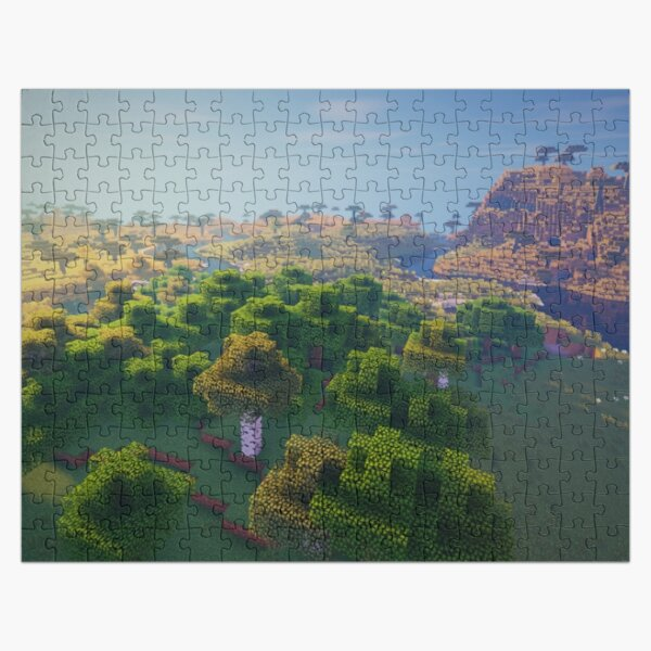 Minecraft landscape Amazing Construction. Jigsaw Puzzle