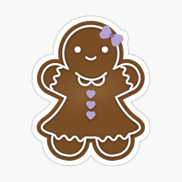 Pastel Gingerbread Girl Pattern- Pink Sticker
