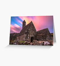 Sunset at Glendalough Greeting Card