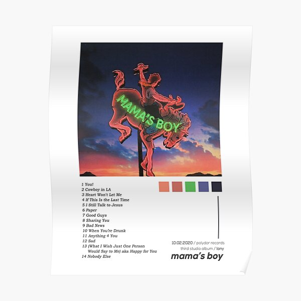 LANY Mama's Boy Album Cover Poster Poster