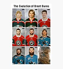 The Evolution of Brent Burns Photographic Print