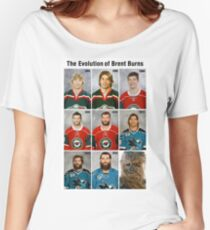 The Evolution of Brent Burns Women's Relaxed Fit T-Shirt