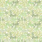 Green Underwater Seaweed Garden Pattern by oksancia