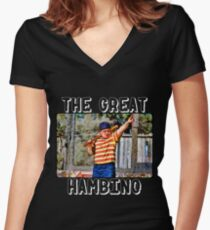 the great hambino - the sandlot Women's Fitted V-Neck T-Shirt