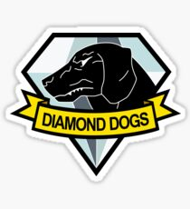 Metal Gear Solid - Diamant Hunde Insignien Sticker