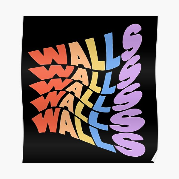 Louis Tomlinson Rainbow Walls  Poster