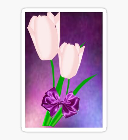 2 Pink Tulips (8987 Views) Sticker