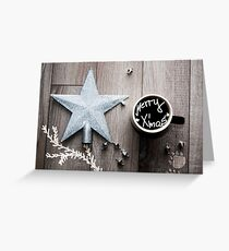 X'mas star Greeting Card