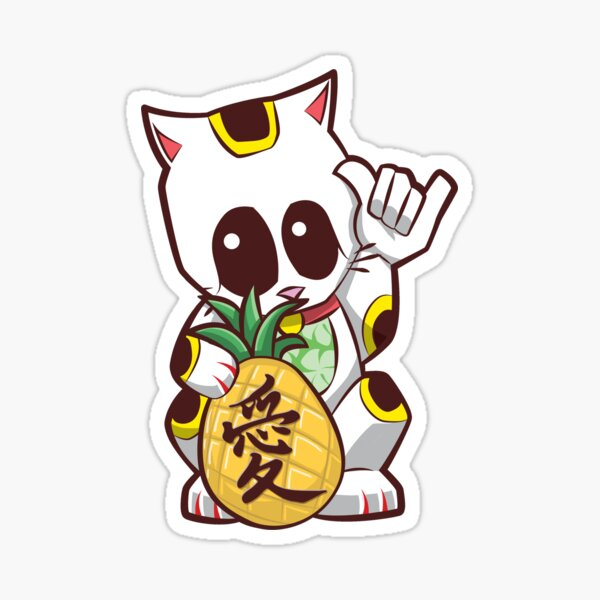 Aloha Lucky Cat (Maneki Neko) Sticker