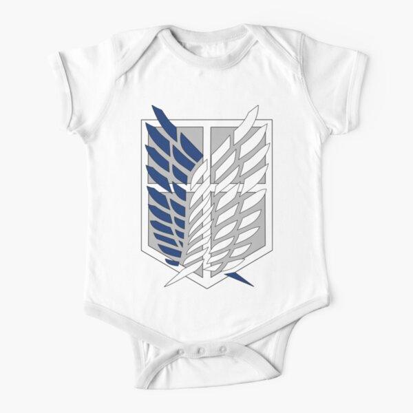 Attack on titan logo Short Sleeve Baby One-Piece