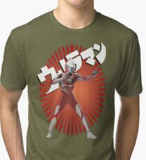 UltraMan Japanese Fun Time Tri-blend T-Shirt