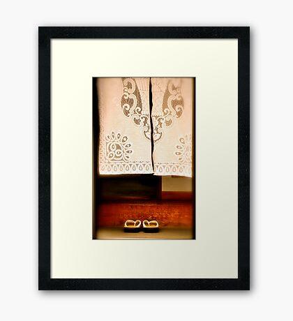 Irrashaimase Framed Print