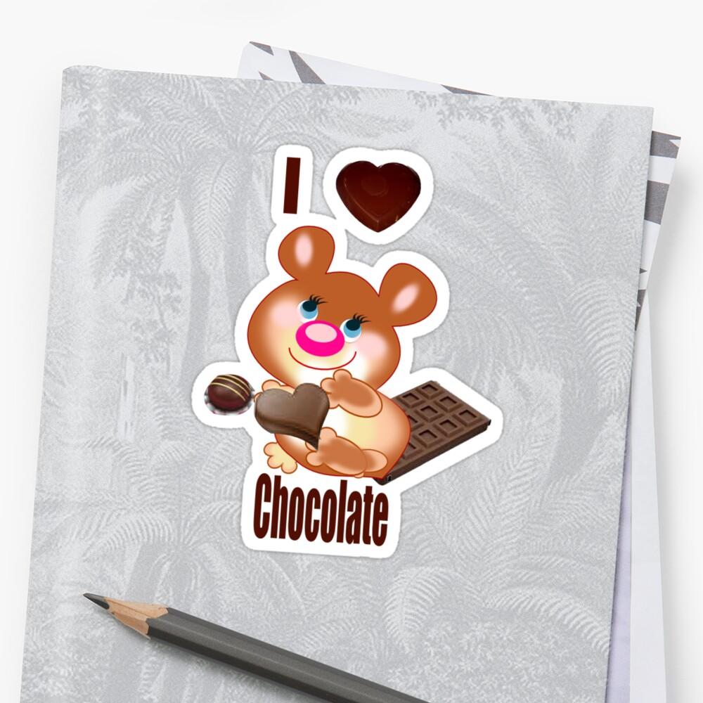 Teddy I Love chocolate  (6370  Views) by aldona