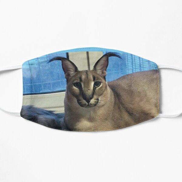 BIG FLOPPA Caracal Cat Meme Mask Flat Mask