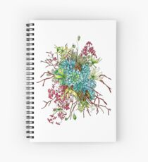 Succulents & Orchids Spiral Notebook
