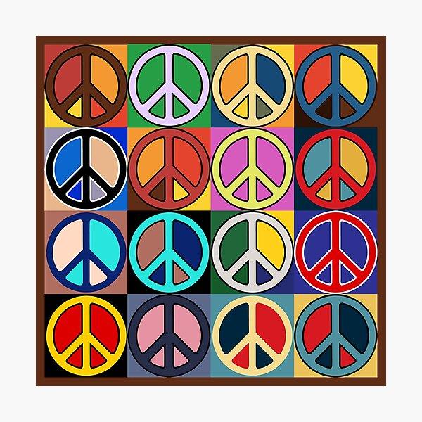 Peace Mosaic Photographic Print
