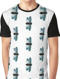 Blue Moth Graphic T-Shirt