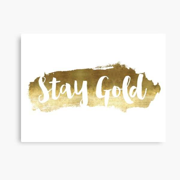 Stay Gold Ponyboy Canvas Prints Redbubble Video edited by shaun ladymon the outsiders. stay gold ponyboy canvas prints redbubble