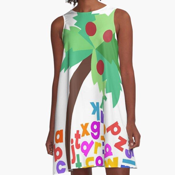 Chicka Chicka Boom Boom Jumbled Alphabets A-Line Dress