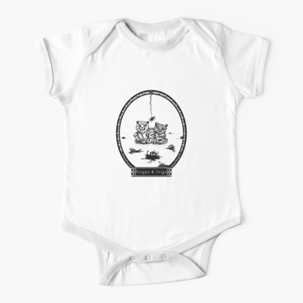 Baby Inigo and Fergus Playing With Spiders Short Sleeve Baby One-Piece