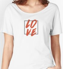 Love Brush Hand Lettering Women's Relaxed Fit T-Shirt
