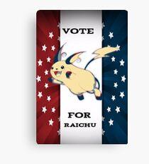 Vote For Raichu Canvas Print