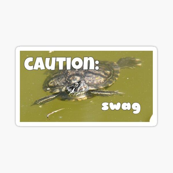 Swag Turtle  Sticker