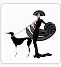 Kunst-Dekoära Haute Couture-Modeillustration Sticker