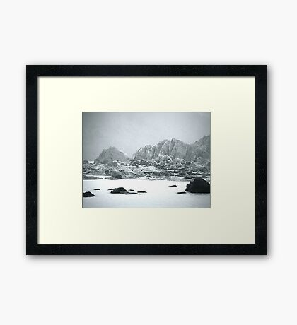 Ventisquero Negro Framed Print