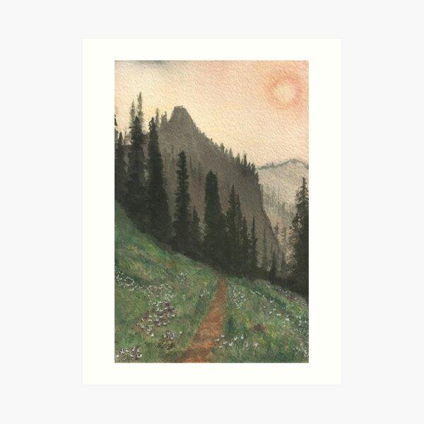Smoke on Huckleberry Mountain Art Print