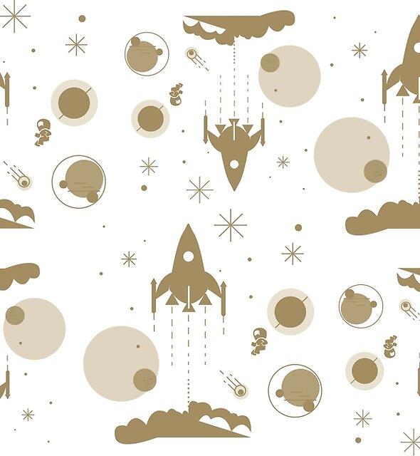 Golden Universe pattern by Wybranska